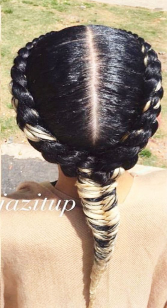 2 goddess braids to the side hairstyles amp haircuts for