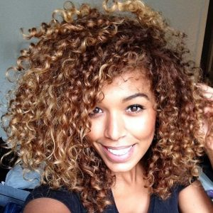 Honey Blonde on Natural Hair