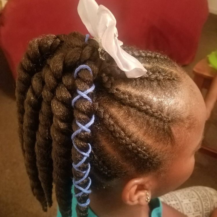 Feed in Braids Ponytail Twist End