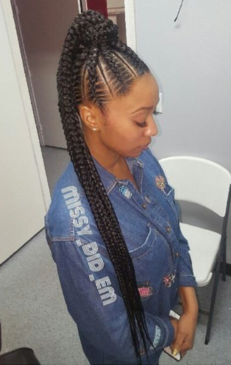 23 Renewed Goddess Braids Ponytail Hairstyles