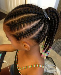 Goddess Braids Ponytail for Kids