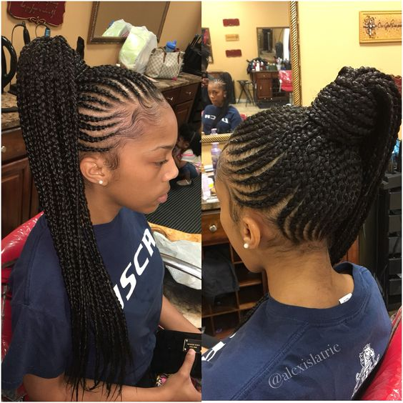 Striking Braids Long Ponytail