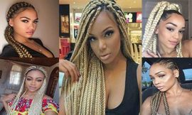 8 Box Braids Blonde on Black Hair for You