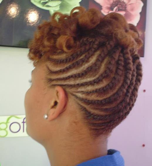 FLAT TWISTS CCOLORED BRAIDS
