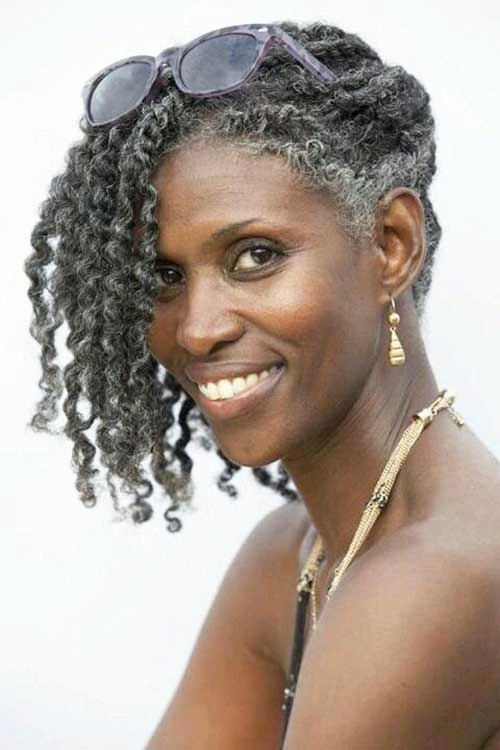 Curly Grey Hairstyles on Natural Hair | New Natural Hairstyles