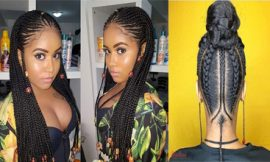 Fulani Braids Hairstyle for Afro-American Women