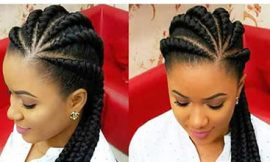 Big Cornrows Hairstyles for Afro-American Women
