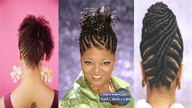 African American Flat Twist Updo Hairstyles