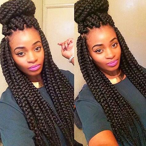 Jubmo braids with topknot
