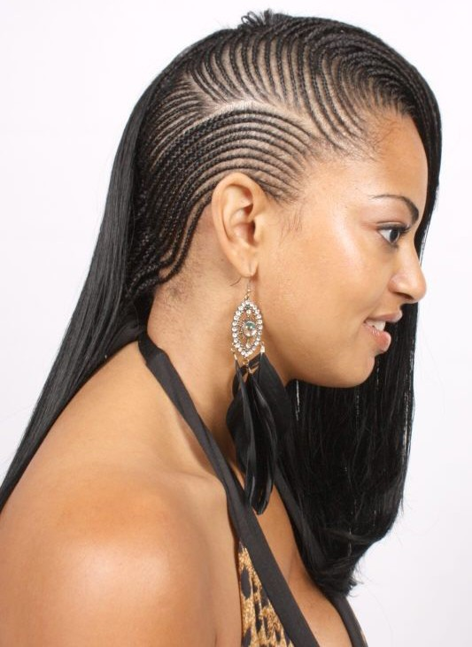 he super cool Pixie Braids with Side COrnrows