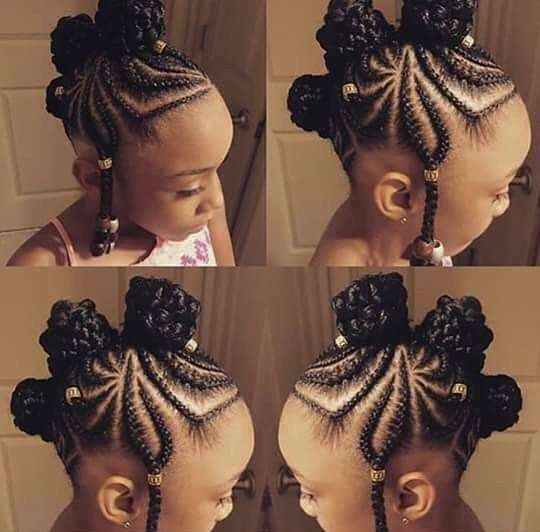 Lovely knots with cornrows