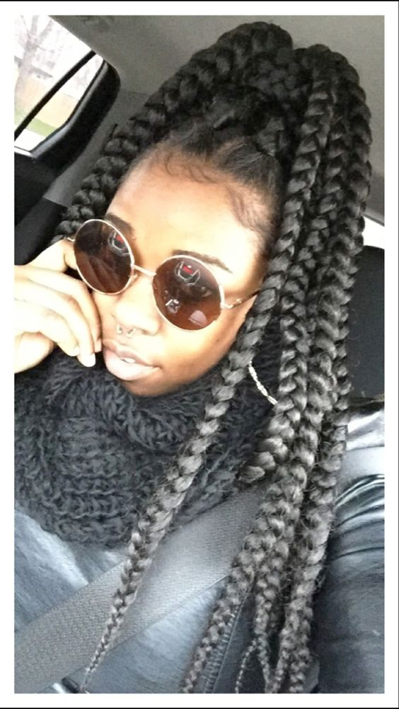 Jumbo Box Braids ; Sunglasses - Cache't More