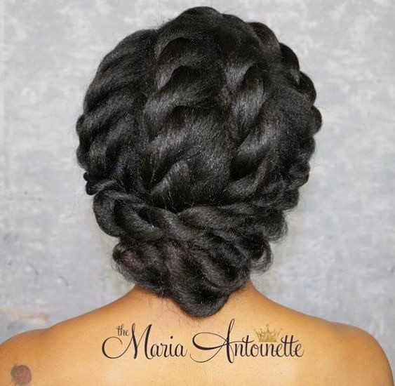 African American Twists and Braided Updo
