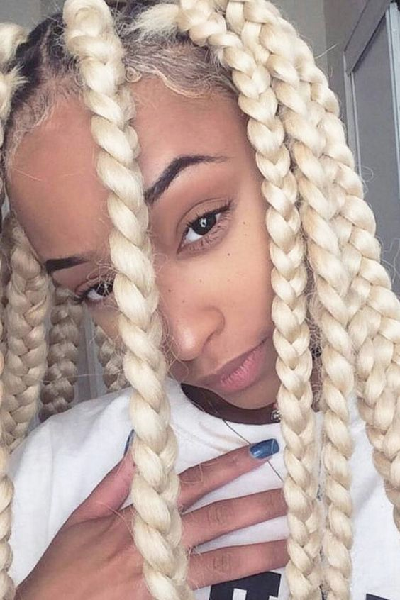 Blond Jumbo Box Braids