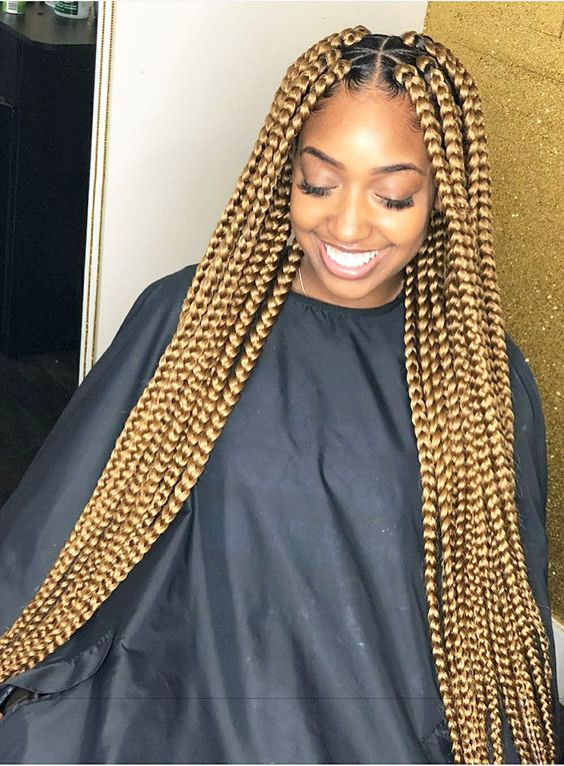Golden Giant Box Braids