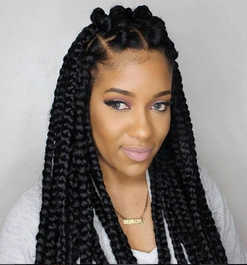 Random beaded Box Braids