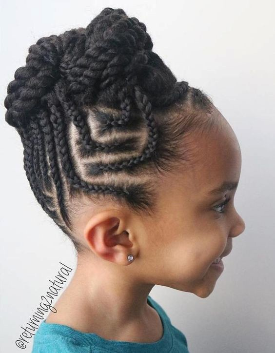 Cornrows Into Twists Updo