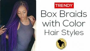 Trendy 18 Box Braids with Color Hair Styles You Can Try