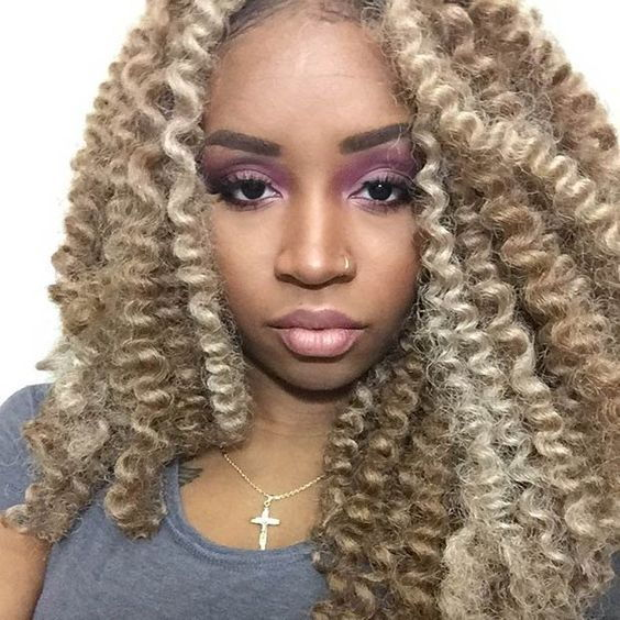 Blonde crochet hair