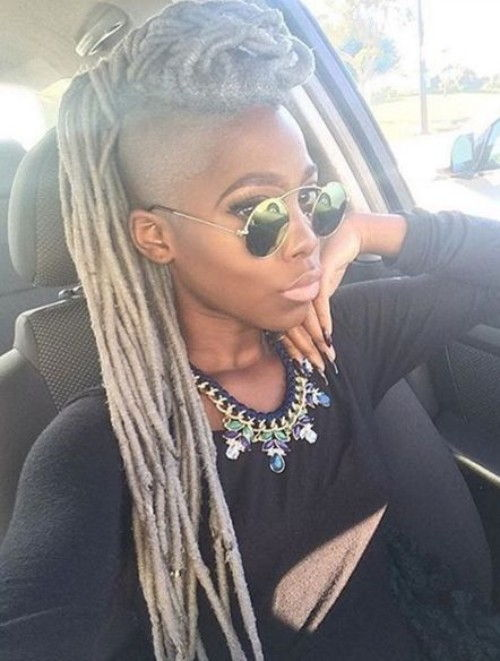 Yarn Braids Mohawk Hairstyle