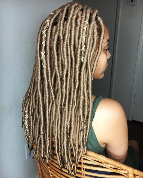 Golden Blonde Yarn Locs