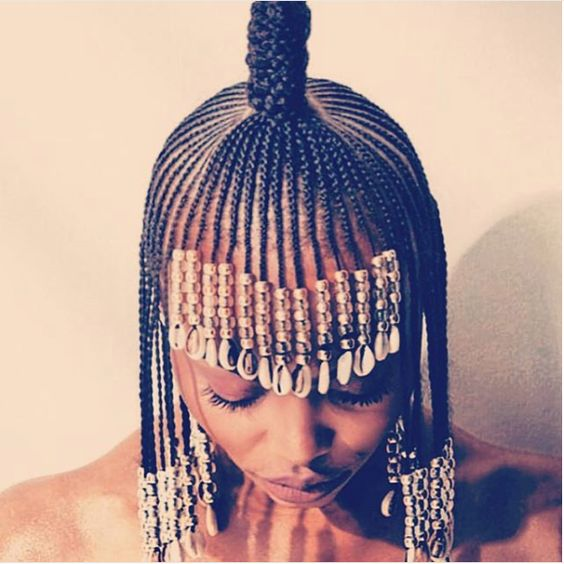 Braided Topknot with Beads