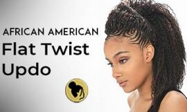 African American Flat Twist Updos on Natural Hair