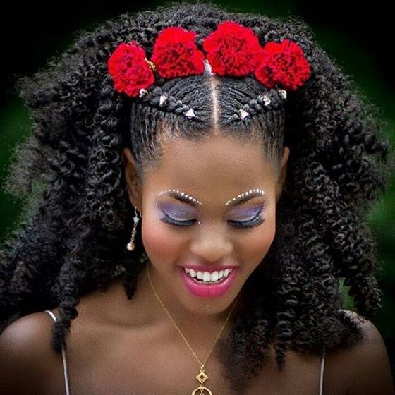 Tribal Weeding Hairstyle