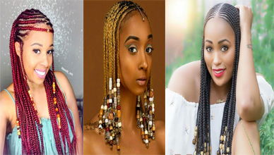 20+ Cornrows with Beads for Adults
