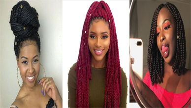 Box Braids with Beads Hairstyle Ideas