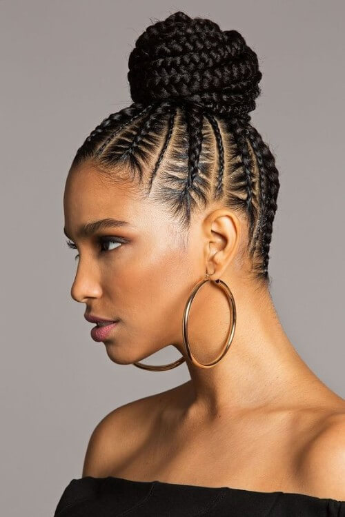 COrnrows Braided Bun