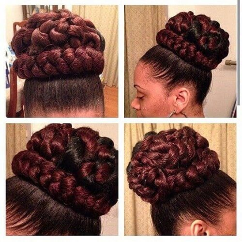 Bun with Wrapping Braids