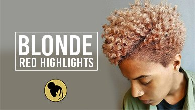 Blonde With Red Highlights For Black Women