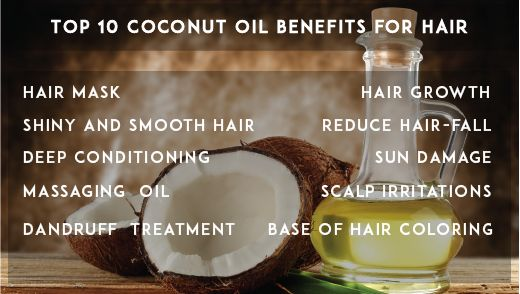 Top 10 Coconut Oil Benefits for Hair