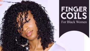 51 Stunning Finger Coils for Black Women