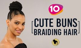 Cute 10 Buns With Braiding Hair