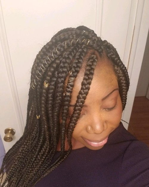 Criss Cross Accented Jumbo Box Braids