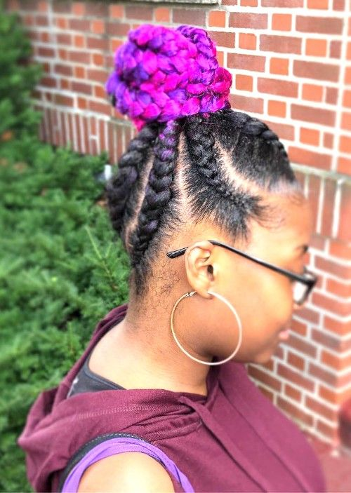 Jumbo Box Braided Giant Topknot
