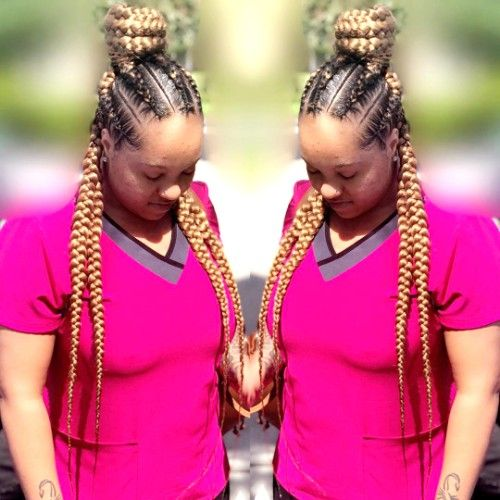 Box Braids for Dark Women