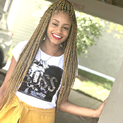 Long Golden Box Braids