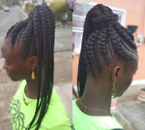 Jumbo Braids Ponytail