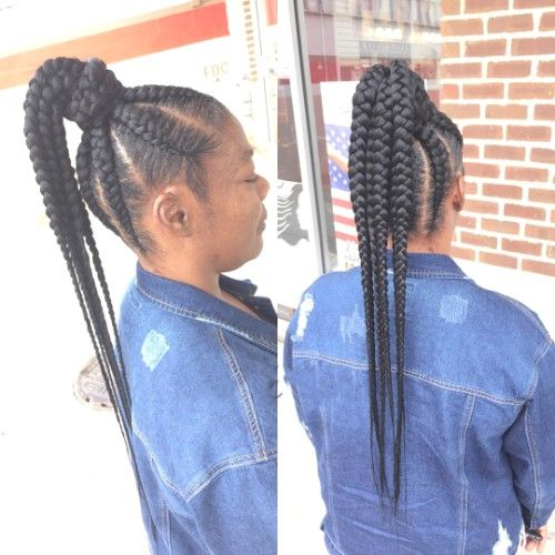 Jumbo Box Braids Ponytail