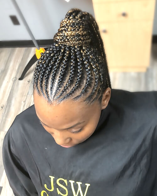 Natural COlored Box Braids Long