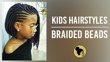 Black Kids Hairstyles with Braided Beads