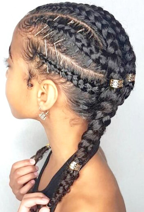 Cornrows Braids and Beads