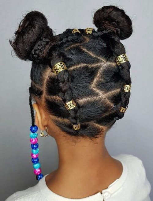 Golden Beads for Natural hair
