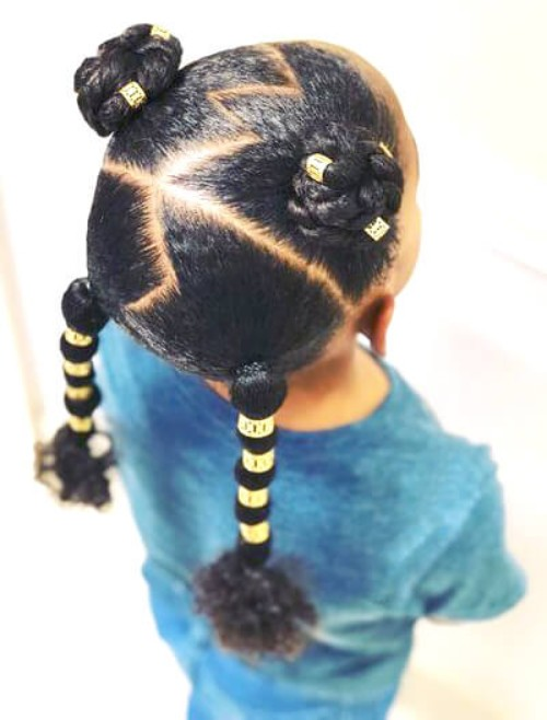 Topknots, Braids, Beads
