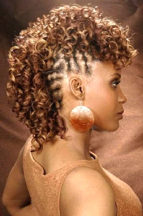 Curly Mohawk Hairtyles for African American Women