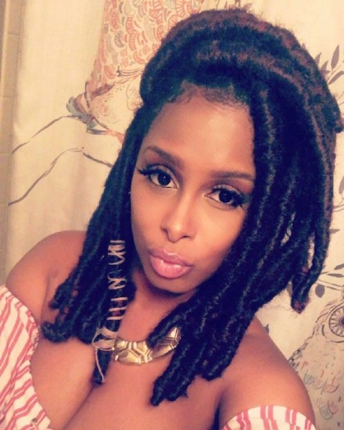 Short Faux locs for African AMerican Women