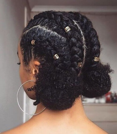 Short Goddess Braids Natural Hairstyles